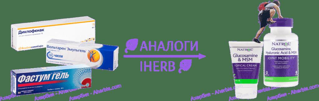 Аналог Фастум гель на iHerb