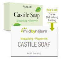 Mild By Nature, кастильское мыло, с ароматом перечной мяты