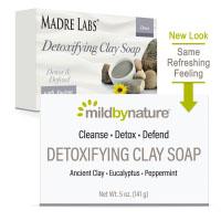 Mild By Nature, очищающее кусковое мыло с глиной, с ароматом эвкалипта и перечной мяты, с ископаемой глиной