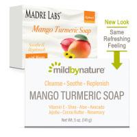 Mild By Nature, кусковое мыло с манго и куркумой