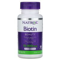 Natrol, Биотин, максимальное действие, 10 000 мкг
