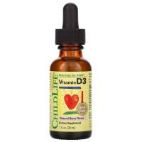 ChildLife, Витамин D3, вкус натуральных ягод, 30 мл