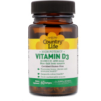 Country Life, Vitamin D3, High Potency, 250 mcg (10,000 IU)