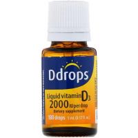 Ddrops, Для детей, жидкий витамин D3, 400 МЕ