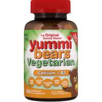 Hero Nutritional Products, Вегетарианские вкусные мишки, кальций + D3