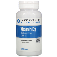 Lake Avenue Nutrition, Витамин D3, 5 000 МЕ