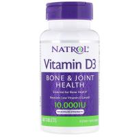 Natrol, Витамин D3, максимальная сила действия, 10 000 МЕ