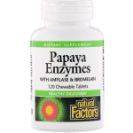 Natural Factors, Papaya Enzymes with Amylase and Bromelain