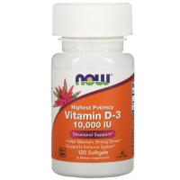 Now Foods, Витамин D3, 10 000 МЕ