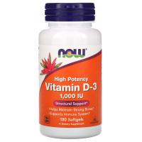 Now Foods, Витамин D-3, 1000 МЕ