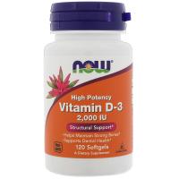 Now Foods, Высокоактивный витамин D-3, 2000 МЕ
