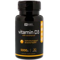 Sports Research, Витамин D3 с кокосовым маслом, 125 мкг (5000 МЕ)