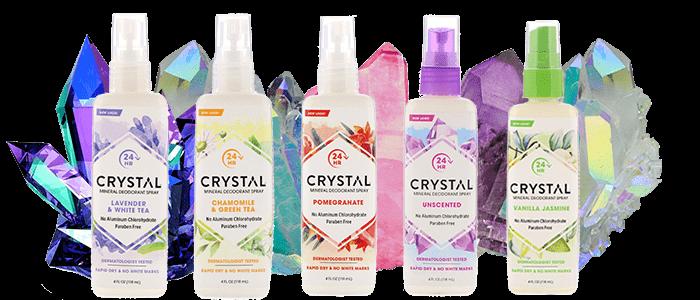 спрей дезодорант Crystal Body