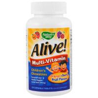 Nature's Way, Alive! Детский жевательный мультивитамин
