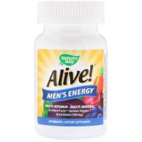 Nature's Way, Alive!, комплекс мультивитаминов и мультиминералов для пополнения запаса энергии мужчин