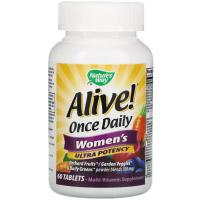 Nature's Way, Alive! Once Daily, ультра-эффективные мультивитамины для женщин