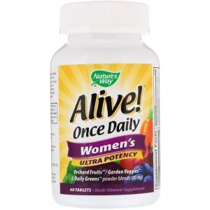 Nature's Way, Живой! Один раз в день Для женщин Суперсила Мультивитамины, 60 таблеток