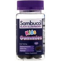 Sambucol, Черная бузина, жевательные таблетки для детей