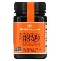 Wedderspoon, Сырой монофлоральный мед мануки, KFactor 16