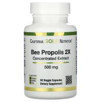 California Gold Nutrition, Прополис 2X, концентрированный экстракт, 500 мг