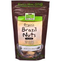 Now Foods, Органические бразильские орехи, несолёные