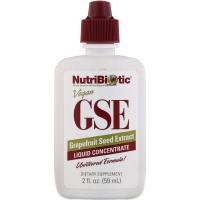 NutriBiotic, Веганский экстракт семян грейпфрута GSE, жидкий концентрат, 59 мл (2 жидкие унции)