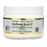 California Gold Nutrition, Buffered Gold C, некислый буферизованный витамин C в форме порошка,