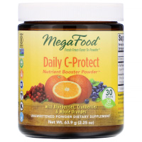 MegaFood, Daily C-Protect, Nutrient Booster Powder, Unsweetened