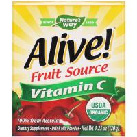 Nature's Way, Alive !, Fruit Source, витамин С