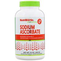 NutriBiotic, Immunity, аскорбат натрия, кристаллический порошок
