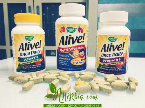 мультивитамины Alive от Nature's Way