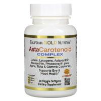 California Gold Nutrition, AstaCarotenoid, комплекс с лютеином, ликопином и астаксантином