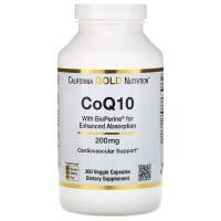 California Gold Nutrition, Коэнзим Q10 фармацевтической чистоты (ФСША) с Bioperine