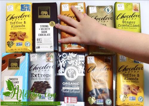 шоколад в подарок iherb