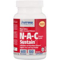 Jarrow Formulas, N-A-C Sustain, N-ацетил-L-цистеин