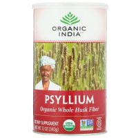 Organic India, Подорожник, клетчатка из шелухи органического подорожника