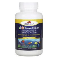 Oslomega, норвежская серия, рыбий жир с омега-3 для детей, натуральный клубничный вкус