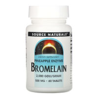Source Naturals, Bromelain 2,000 GDU/g, 500 mg