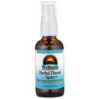 Source Naturals, Wellness, травяной спрей для горла