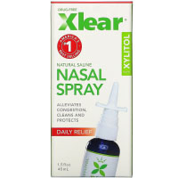 Xlear, Солевой назальный спрей с ксилитолом, быстрого действия