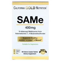 California Gold Nutrition, SAM-e, предпочтительная форма бутандисульфоната, 400 мг