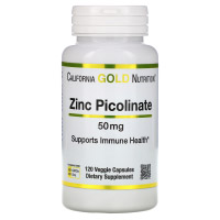 California Gold Nutrition, Пиколинат цинка, 50 мг