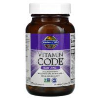 Garden of Life, Vitamin Code, цинк RAW