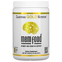California Gold Nutrition, MEM Food, для поддержки памяти и когнитивных функций
