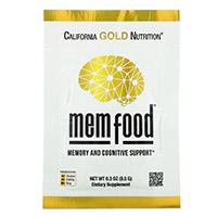 California Gold Nutrition, MEM Food, для поддержки памяти и когнитивных функций, 60 пакетиков